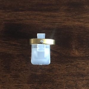 Gold over stainless steel cz ring